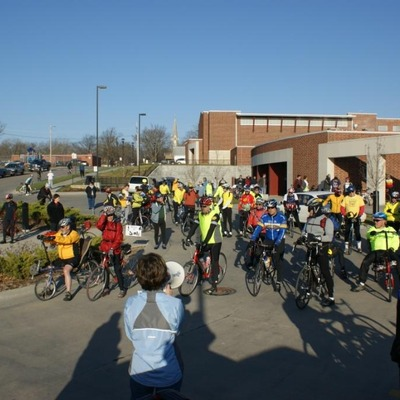 Cabin Fever Challenge-cyclists from over 20 states ride in support of trail.